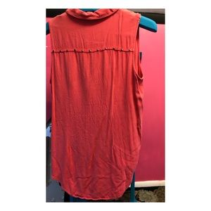 Rock & Republic studded sleeveless buttoned tunic